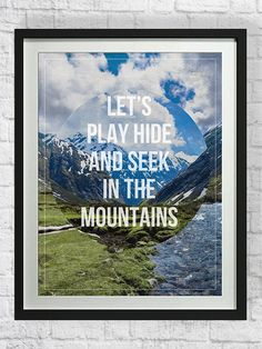 Hiking Quote Typography Art Poster, Mountains Printable, Digital Illustration, Downloadable, Vacation, Inspirational, Motivational