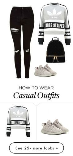 """""""Casual Day"""" by luisasiilvestri on Polyvore featuring adidas Originals and MICHAEL Michael Kors"""