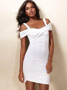 Cross-front Lightly Padded Bra Top Dress