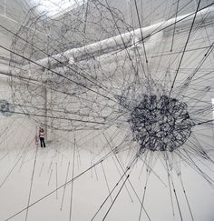Tomas Saraceno - 'galaxies forming along filaments, like droplets along the strands of a spider's web'