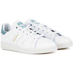 promo code 4fdb6 fb30d Adidas Originals Stan Smith Leather Sneakers Hvide Sneakers, Adidas Sko  Kvinder, Sko Sneakers,