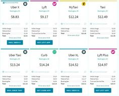 uber and lyft fare estimate