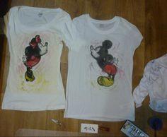 4 my loveee:') <3  #mickey #minnie #mouse #tshirt #love #kiss
