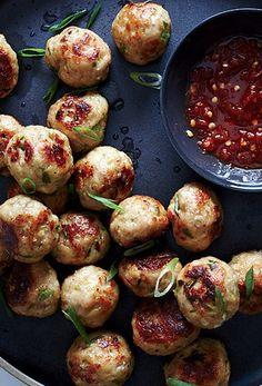 Sesame-Ginger Chicken Meatballs
