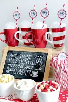 Polar Express Refreshments Chalkboard Poster - Sassaby Parties                                                                                                                                                                                 More