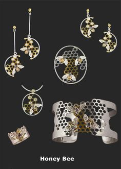 56 Ideas Jewerly Necklace Pendant Earrings For 2019 Bee Jewelry, Insect Jewelry, Jewelry Art, Unique Jewelry, Silver Jewelry, Jewelry Accessories, Handmade Jewelry, Jewelry Design, Silver Earrings
