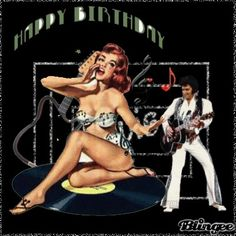 Happy Birthday pic Happy Birthday Pictures, Birthday Images, Hair Due, Pin Up Hair, Animation, Poster, Glitter Dust, Wonder Woman, Superhero