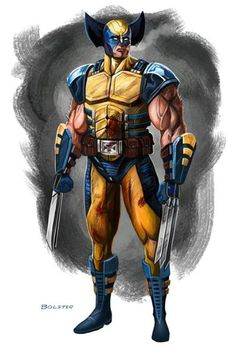 An armored Wolverine?  Looks badasss, but you just know he's complaining the whole time.