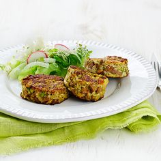 Vegetable and Fava Bean Patties
