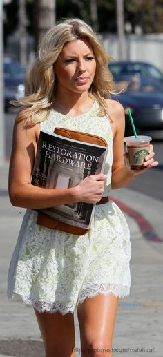 "Street style - Mollie King  not sure this is ""street style"", but a cute dress anyway"