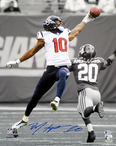 DeAndre Hopkins Autographed 16x20 Photo Houston Texans Spotlight