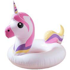 ANKIT HOME Emoji Unicorn Multicolored Pool Float ($16) ❤ liked on Polyvore featuring pool and multi
