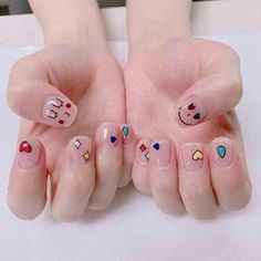 Fails art short sparkle ideas for 2019 Korean Nail Art, Korean Nails, Minimalist Nails, Nail Swag, Love Nails, Pretty Nails, Mens Nails, Kawaii Nails, Cute Nail Art