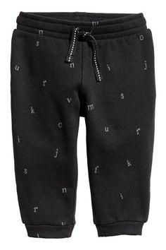 Sweatpants - Black/Letters - | H&M GB 1