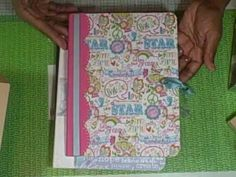 Use a composition notebook and make your own Essential Oil Journal! ▶ Altered Composition Notebook - YouTube