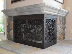 l shaped fireplace screen we could use one of these home now rh pinterest com Fireplace Screens Made in USA Custom Fireplace Screens