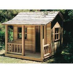 Playhouse Woodworking Plan A child's imagination is a wonderful thing! Let your child's imagination go even further when you build them this Playhouse Woodworking Plan! Just think of all the memories #buildachildrensplayhouse