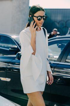 FOR STYLE INSPIRATION || White bell sleeved dress || NOVELA BRIDE...where the modern romantics play & plan the most stylish weddings... www.novelabride.com @novelabride #jointheclique
