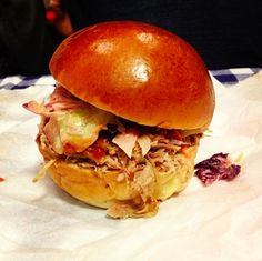 Pulled pork & turkey brioche