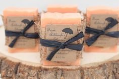 75 Handmade Soap Favors ~ Perfect for ~ Wedding Favors ~ Baby Shower Favors ~ Bridal Shower Favors ~ Rustic look and customizeable for your event!