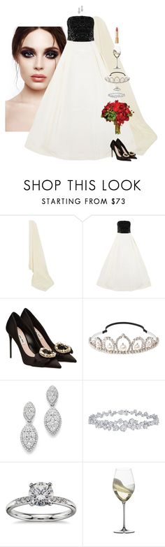 """The Modern Princess Bride"" by xoxomuty ❤ liked on Polyvore featuring Etro, Oscar de la Renta, Miu Miu, Bloomingdale's, Harry Winston, Blue Nile, Riedel, Dolce&Gabbana, modern and bride"