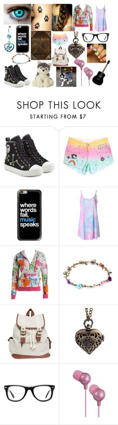 """Untitled #235"" by shadowfang52 on Polyvore featuring Moschino, Casetify, Wet Seal, Muse, JVC, Hello Kitty and Yamaha"