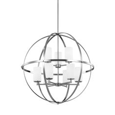 Sea Gull Lighting Alturas 2725 In Brushed Nickel Single Etched