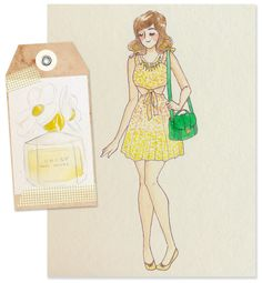 Fashion illustration - Daisy Marc Jacobs