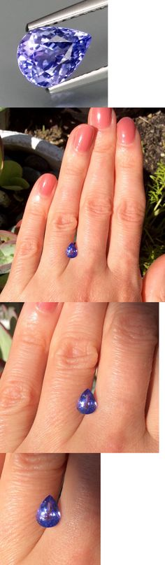 Tanzanite 4195: 1.10Ct Natural Tanzanite Purplish Blue Color Eye Cleanandfull Sparkling Pear Shape -> BUY IT NOW ONLY: $40 on eBay!