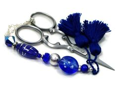 Beaded Scissor Fob Quilting Sewing Cross Stitch by TJBdesigns, $18.00