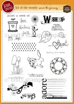 {savor the journey} January 2010 Kit of the Month by Unity Stamp Company
