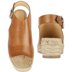 Rag & Bone Women's Calla Espadrille Wedge Sandals ($395) ❤ liked on Polyvore featuring shoes, sandals, brown braided sandals, woven wedge sandals, platform sandals, platform wedge sandals and buckle sandals