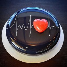 """""""My heart beats for yummy cakes. Birthday Cake Writing, Happy Birthday Cakes, Doctor Cake, Artist Cake, Homemade Popsicles, Valentines Day Cakes, Salty Cake, Fancy Cakes, Love Cake"""