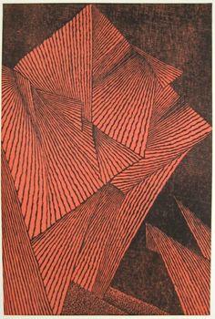 "Tomio Kinoshita ""Faces #3"" 1962, woodblock print"