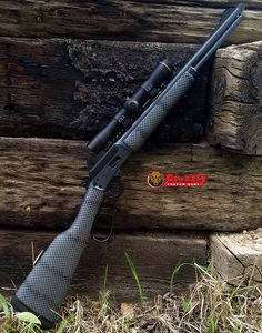 Marlin 1894 is just about to head home. Custom painted stocks, two-tone Cerakote, Leupold scope and LPA sights. Zombie Apocalypse Weapons, Apocalypse World, Tactical Rifles, Firearms, Shotguns, Weapons Guns, Guns And Ammo, Lever Action Rifles, Long Rifle
