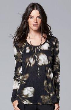 5578b8765dd4 Simply Vera Vera Wang Print Scoopneck Top - Women s Date Outfits