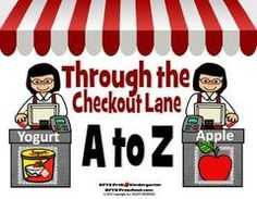 Enter to Win!! Through the Checkout Lane A to Z! Enter for your chance to win 1 of 10. Through the Checkout Lane A to Z  (18 pages) from RFTS PreK-Kindergarten on TeachersNotebook.com (Ends on on 07-18-2016) Children identify the letters of the alphabet as they go through the checkout lane at the grocery isle. Read the word for each letter and match up the correct grocery item. The perfect addition to your nutrition unit. Great for letter recognition, early readers, memory and match games…