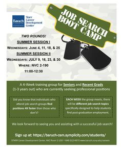 Job Search Boot Camp- Summer Session
