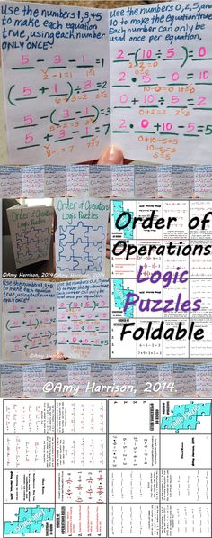 $ A twist on the traditional order of operations foldable.  Use the logic puzzles to get your students thinking!  Then, fold it up and put it in your interactive math notebook.