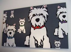 POP OUT Art Marc Tetro Create Your Own WESTIE West Highland Terrier /& Note Pad