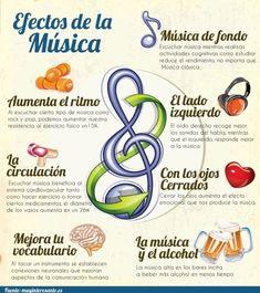 La música es una parte esencial de la vida humana y nuestra respuesta hacia ella podría estar entretejida en nuestro Cerebro. Dependiendo del genero, algunos de sus efectos son: aumentan la energía muscular; aumentan la energía molecular; influencian el latido del corazón; alteran el metabolismo; reducen el dolor; aceleran la sanación y la recuperación de