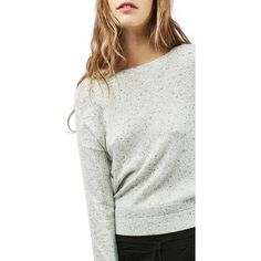 97fca454e6d2 Women's Topshop Drop Shoulder Sweater ($48) ❤ liked on Polyvore featuring  tops, sweaters