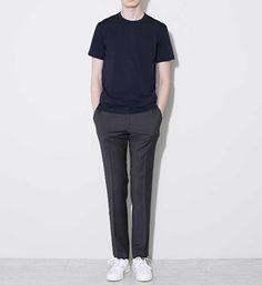 48 Elegant Man Street Style Ideas To Inspire You Korean Fashion Men, Korea Fashion, Korean Men, Look Fashion, Trendy Fashion, Mens Fashion, T Shirt Png, Outfits Hombre, Casual Outfits