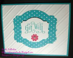 Cheery Get well card for a friend.  So glad Stampin' Up! has included the Stylish Stripes in the new 2014-2015 Catalog!