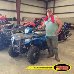 Thanks to Trevin Merrill from Long Beach MS for getting a 2016 Polaris Sportsman 450 @HattiesburgCycles