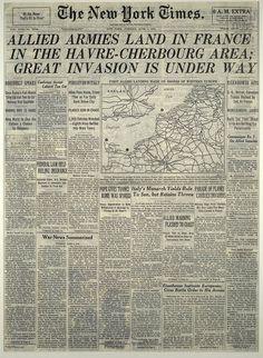 New York Times June 6, 1944