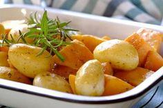 Quick potato and butternut bake in a bag