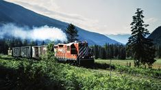 CP, Hills, British Columbia, 1983 Northbound Canadian Pacific Railway local freight train near Hills, British Columbia, on July 14, 1983. Photograph by John F. Bjorklund, © 2015, Center for Railroad Photography and Art. Bjorklund-38-08-06