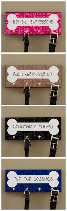 Dog Stuff Personalized Plaque With Hooks {perfect for Rocco & Jake, Sophie & Kinzie, Reese & Sarah!}