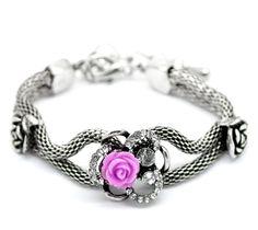 Sweet Purple Rose Bracelet. Starting at $5 on Tophatter.com!